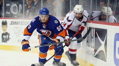 Adam Pelech of the New York Islanders and