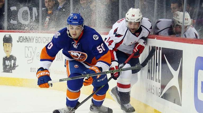 Adam Pelech of the New York Islanders and