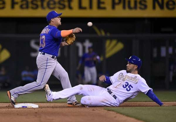 Asdrubal Cabrera turns a double play Sunday