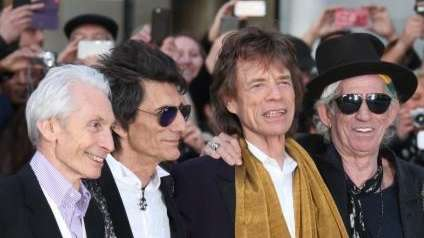 Charlie Watts, Ronnie Wood, Mick Jagger and Keith