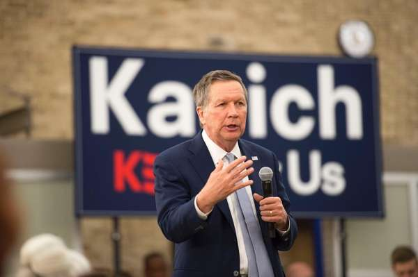 Republican presidential candidate, Ohio Gov. John Kasich, during