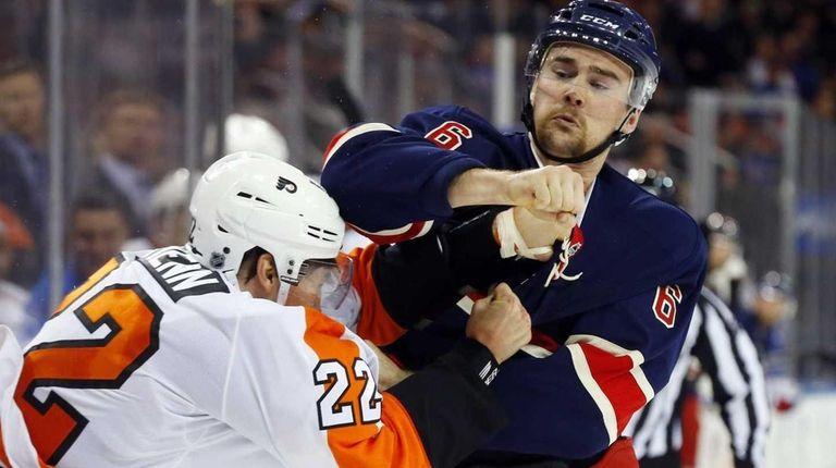 Dylan McIlrath of the New York Islanders