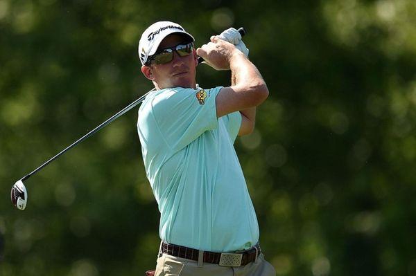Jim Herman of hits his tee shot