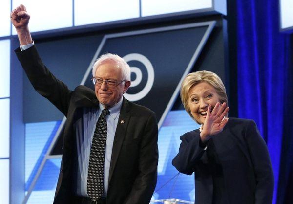 Democratic presidential candidates, Vermont Sen. Bernie Sanders and