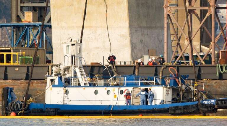 A tugboat named Specialist, which crashed and sank