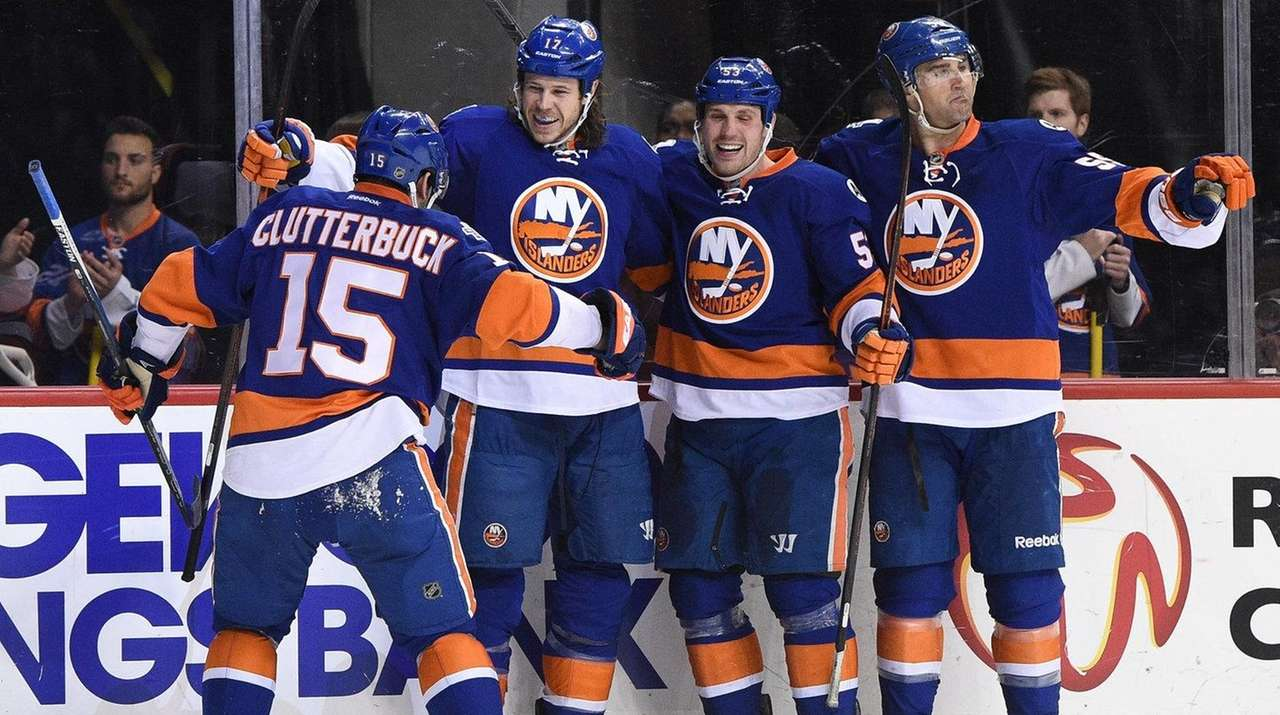 New York Islanders left wing Matt Martin, second