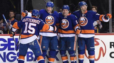 New York Islanders left wing Matt Martin, second