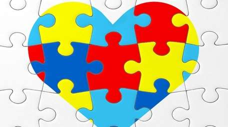 The symbol of autism awareness.