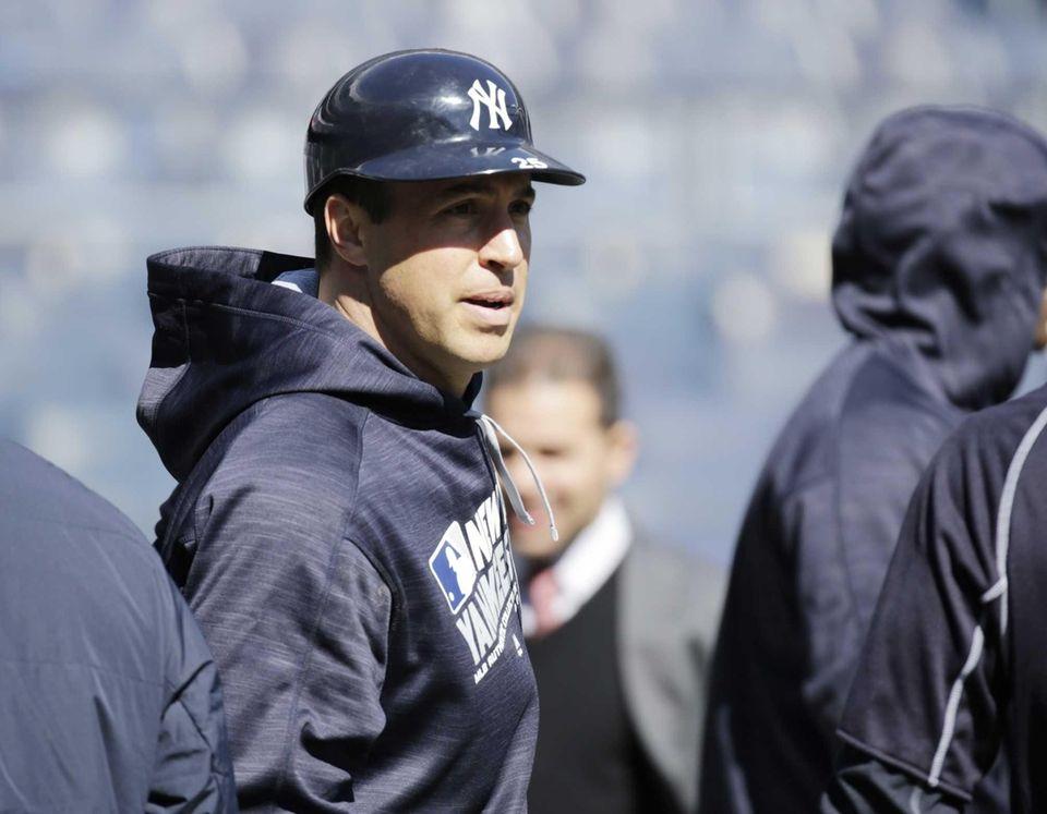 New York Yankees first baseman Mark Teixeira (25)