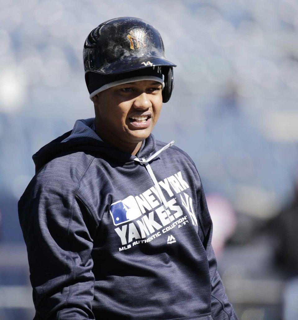 New York Yankees shortstop Starlin Castro (14) during