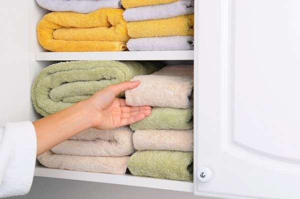 When reorganizing your linen closet, think about how