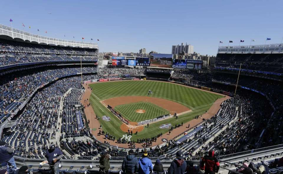 New York Yankees and Houston Astros line up