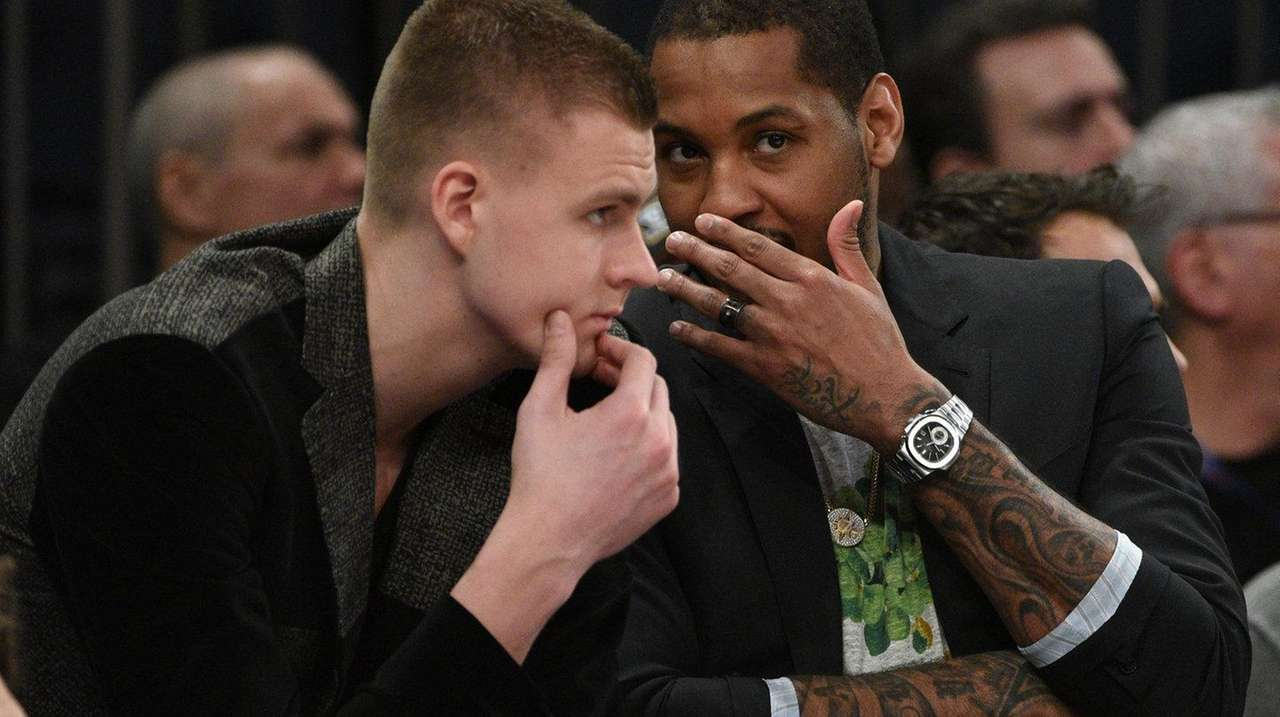 New York Knicks forward Kristaps Porzingis and