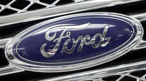 The Ford logo shines on the front grille