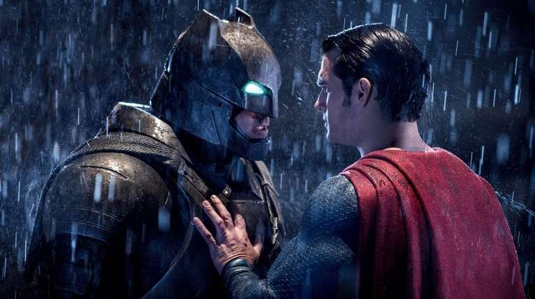 Ben Affleck, left, and Henry Cavill in