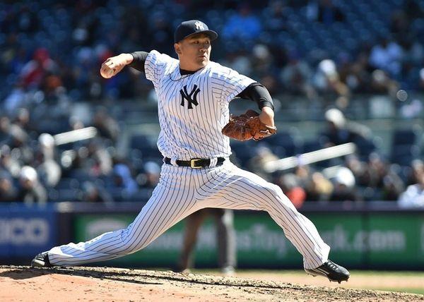 New York Yankees starting pitcher Masahiro Tanaka allowed