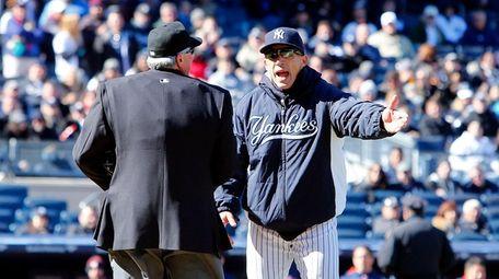 Manager Joe Girardi of the New York Yankees