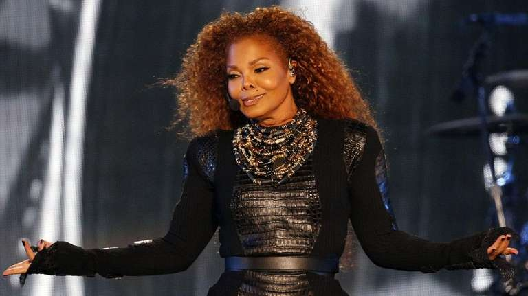 Janet Jackson performs during the Dubai World Cup
