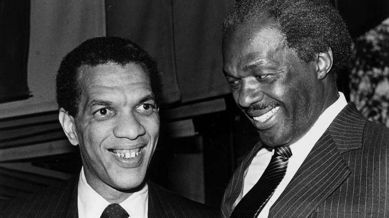 Ivanhoe Donaldson, left, and Mayor Marion Barry are