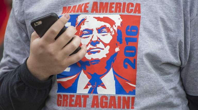 A supporter of Donald Trump in a shirt