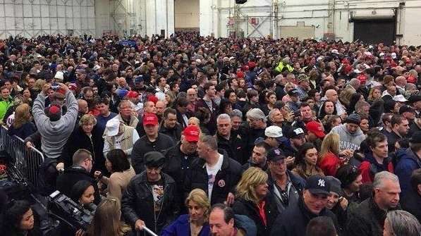 The scene inside the Donald Trump rally at