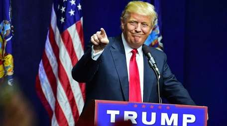 Donald Trump speaks to thousands of supporters during
