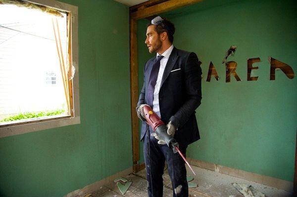 Jake Gyllenhaal takes to destroying things as he