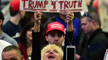 A supporter of presidential candidate Donald J. Trump