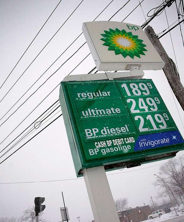 Lower gas prices, here at a Miller Place