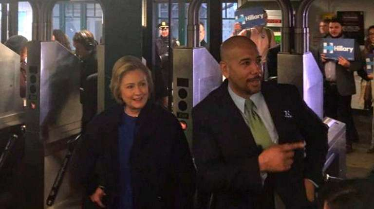 Hillary Clinton rode the No. 4 train with