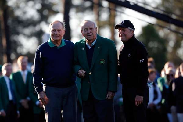 Honorary starters Jack Nicklaus, Arnold Palmer and Gary