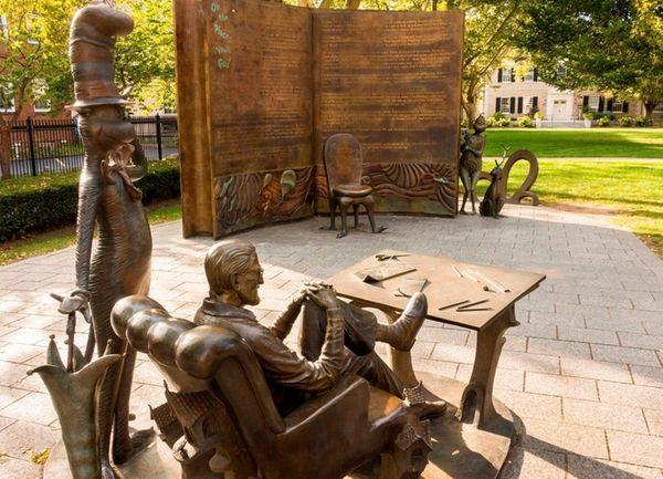 Visit the Dr. Seuss sculpture garden in his