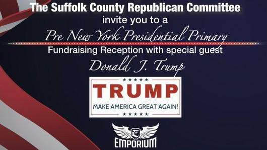 An invitation to the Suffolk County Republican Committee's