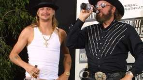 Musicians Kid Rock and Hank Williams Jr. pose