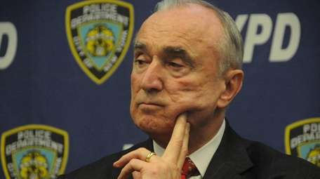 Police Commissioner William J. Bratton as he answers