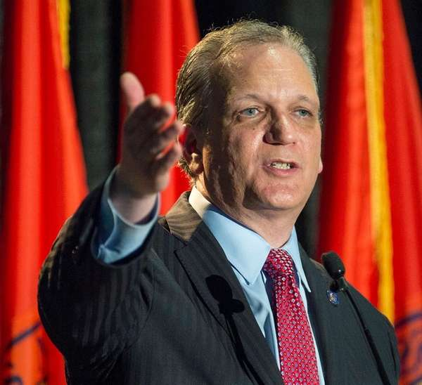 Nassau County Executive Ed Mangano gives his State