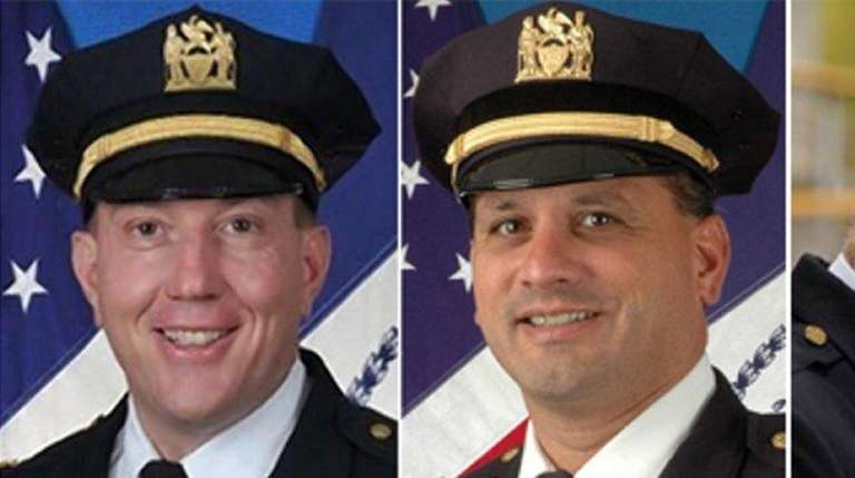 From left, Deputy Chief David Colon, Deputy Insp.