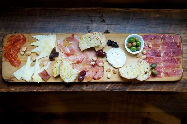 A selection of Spanish meats and cheeses are