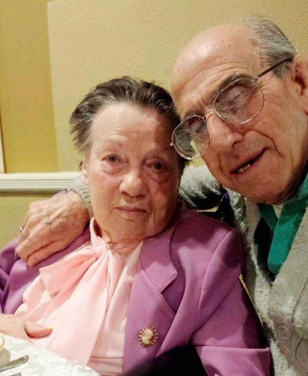 Angeline Romeo, 85, and her husband, Alfred Romeo,