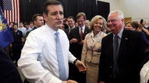 Republican presidential candidate Sen. Ted Cruz (R-Texas) greets