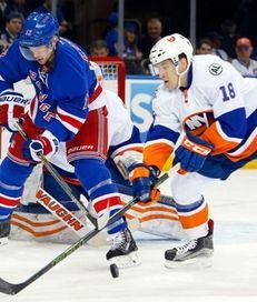 Ryan Strome, right, of the New York Islanders