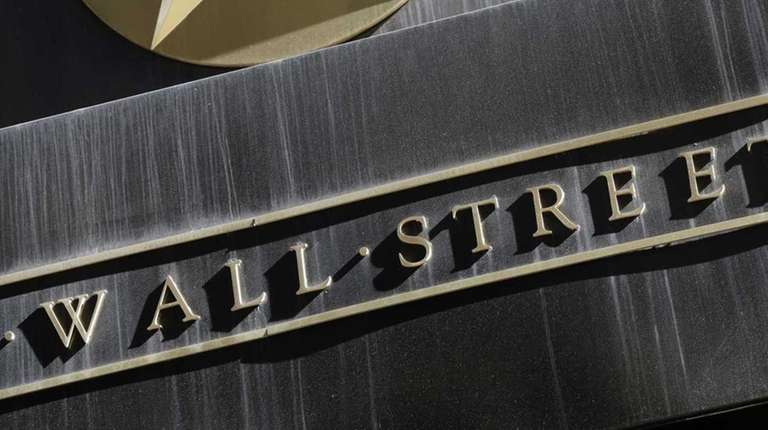 A sign for Wall Street on the