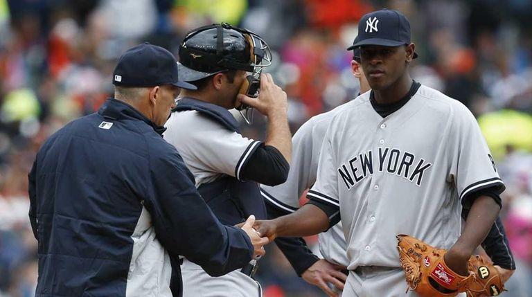 New York Yankees starting pitcher Luis Severino is