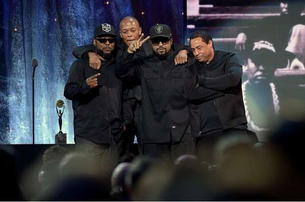 MC Ren, Dr. Dre, Ice Cube and DJ