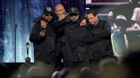 MC Ren, Dr. Dre, Ice Cube and DJ