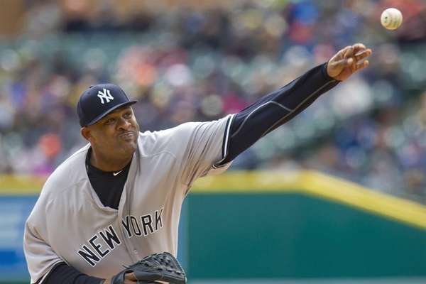 Starting pitcher CC Sabathia #52 of the New