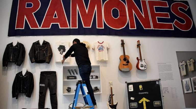 The Ramones exhibition at the Queens Museum in