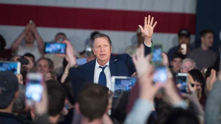 Republican presidential candidate and Ohio Gov. John Kasich