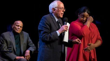 Democratic presidential candidate Bernie Sanders Saturday night at