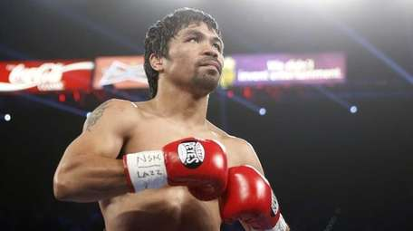 Manny Pacquiao, of the Philippines, waits to fight
